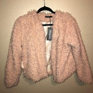 A Fuzzy Light Pink Jacket